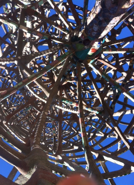 Underside of the main Tower. Photo By Marina Plentl